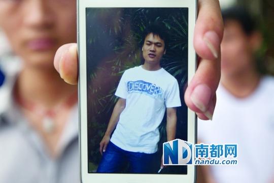 廖先生生前的照片。南都记者 黎湛均 摄