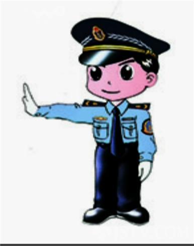 交通执法卡通人物运用亲切,生动的图文搭配,加深了公众熟悉的交通执法