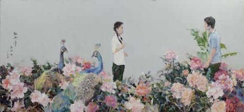 资料图:牡丹亭·板上油画