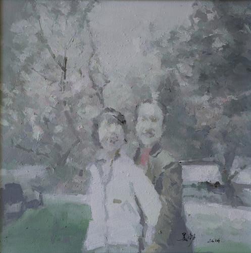 资料图:中山公园· 布面油画