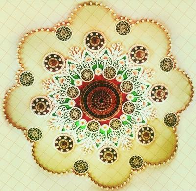 常沙娜/人民大会堂宴会厅天花顶设计图 常沙娜
