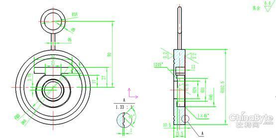 对工程图纸稍做分析,心中有数后开始分部分建模:主视图最大的三个