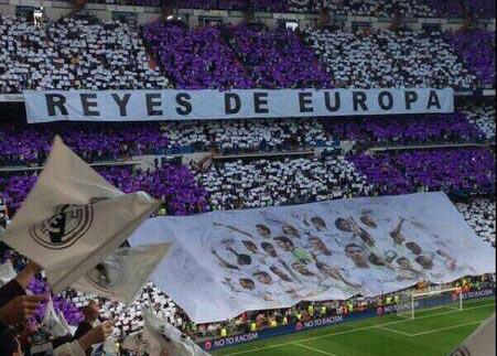 伯纳乌球迷打出标语:欧洲之王