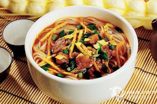 舌尖美食组图跟着2吃厨房陕西美女面(臊子)华北美食理工大学图片
