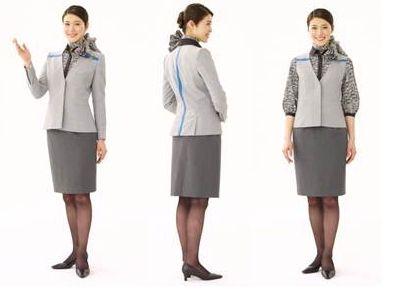 全日空发布全新空乘及客服人员制服图片