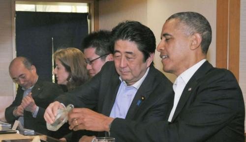 """安倍精心挑选的顶级寿司为啥令奥巴马""""没胃口""""?"""