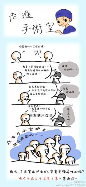 """""""小护士""""连载漫画 解读神秘手术室里的酸甜苦辣(组图)图片"""