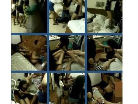 女生遭围殴8分钟 宾馆内被强行扒掉衣物(组图)