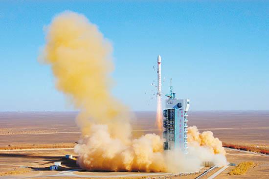 资料图:中国长征二号丁运载火箭。