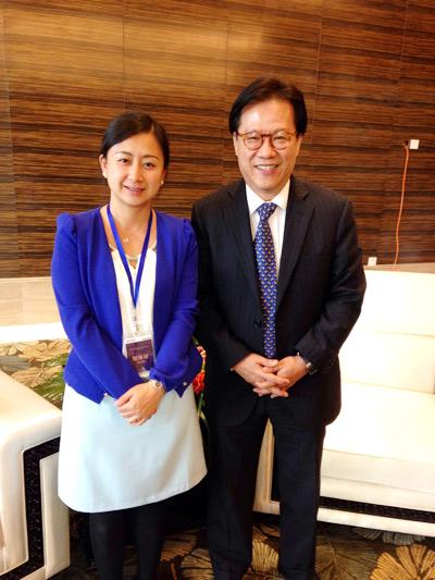 搜狐旅游主编王钦与戴斯酒店集团(中国)总裁陈嘉财先生