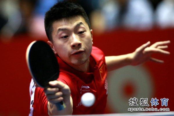 图文:[世乒赛]中国男团晋级四强 志在必得