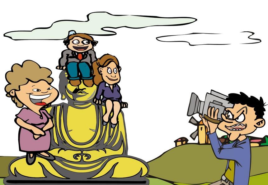 漫画:不文明旅游行为(组图)