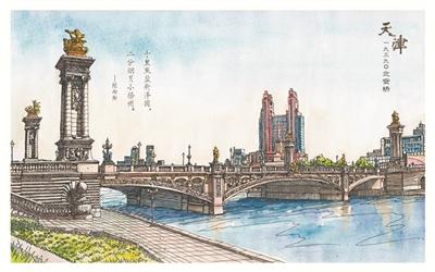 手绘北安桥