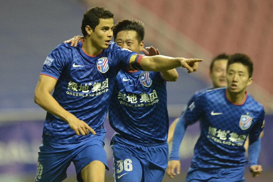 #(体育)(3)足球--中超:上海绿地申花胜山东鲁能