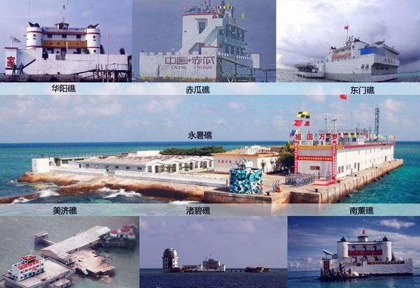 中国已在仁爱礁修建工事 菲军出动三艘军舰监