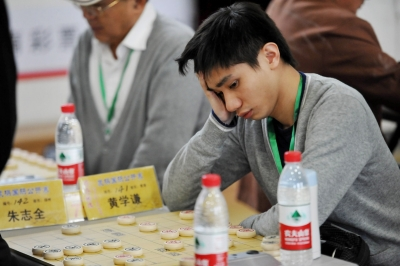 中国香港选手在比赛中。