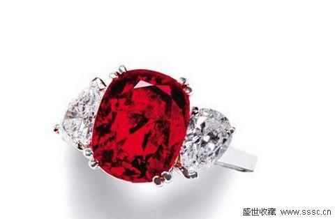 7.00克拉天然鸽血红红宝石配钻石戒指 香港保利