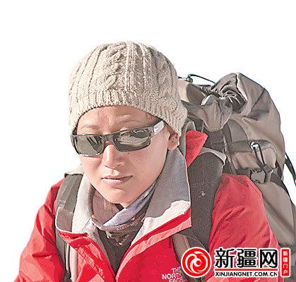 白玛德吉,夏尔巴唯一的女性登山队员。(白玛德吉提供)