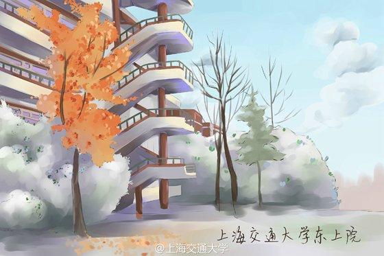 大三女生手绘交大校园明信片 梦幻 小清新受追捧(1)_国内_光明网(组图