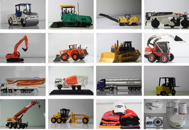 物物交换公益活动部分工程机械模型及精美礼品一览