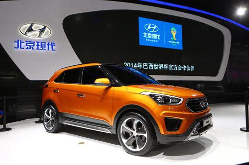 2014青岛国际车展 北京现代展台媒体群访