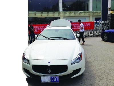 钱先生的故障车已经拖到南京等待维修。