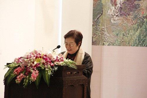 批评家陶咏白开幕讲话