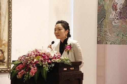 北京时代美术馆执行馆长刘燕女士致开幕词