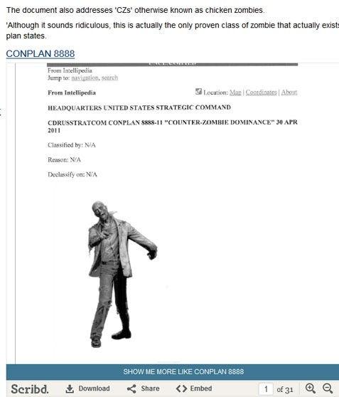 """原文配图:美军机密文件""""CONOP 8888""""。"""