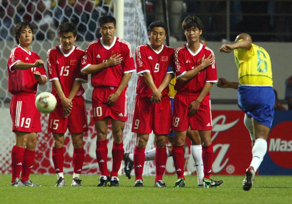 巴西队阵容_组图:中国队的世界杯回忆 最强国足02韩日难求一胜-搜狐滚动