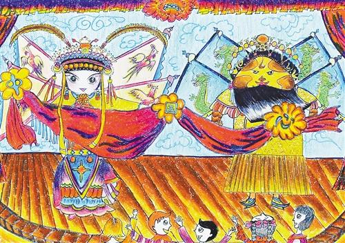 万本《童画中国梦》昨日首发(组图)图片