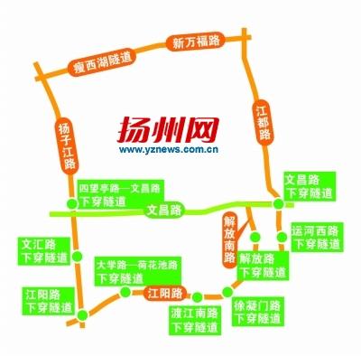 扬州主城区外围打造准快速环路 江都路设公交专用道