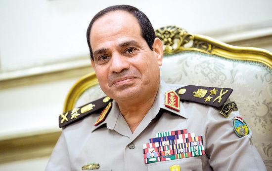 资料图:埃及前军方领袖、总统候选人塞西。