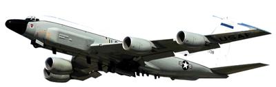 美军派出RC-135电子侦察机,主要搜集中俄军舰雷达、通信信号等