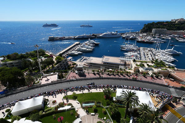 图文:F1摩纳哥站第三次练习 美丽的赛道