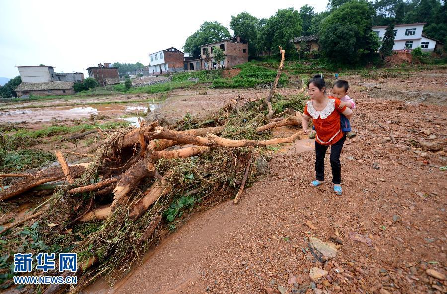 江西上栗遭受严重洪灾