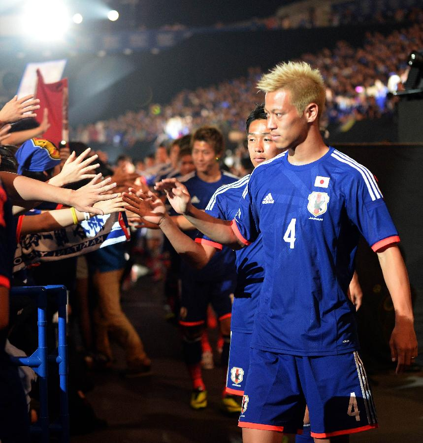 巴西世界杯日本裁判_(世界杯)(2)足球——日本队举行巴西世界杯出征仪式(图 ...
