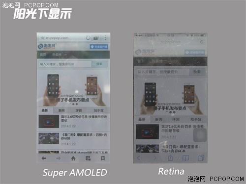 屏幕间的较量 Super AMOLED对比Retina