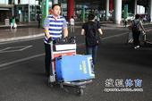 图文:国羽结束尤伯杯征程抵京 张军准备上车
