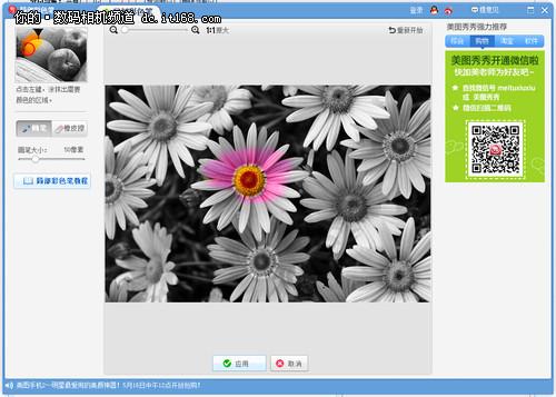 万花丛中一点红 教你黑白照片中加色彩