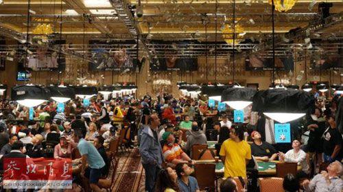 拉斯韦加斯Rio酒店的赌场大厅,第45届世界扑克大赛将在这里举行。