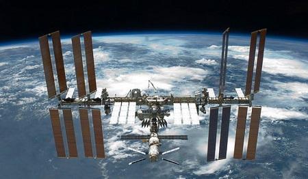 资料图:国际空间站。