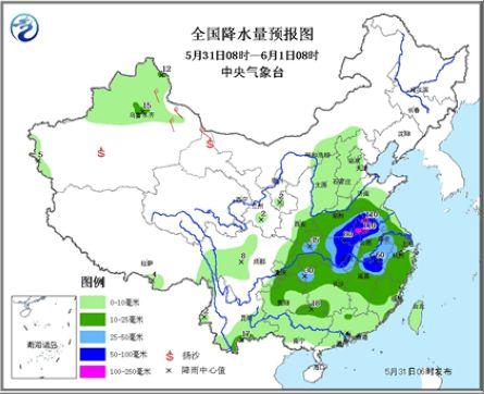 大范围降水搅局端午假期 中东部9省遭暴雨