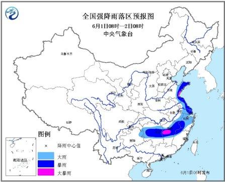 气象台发布暴雨蓝色预警:山东江西局地有大暴雨