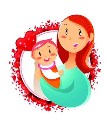 姐妹两人卡通图片-牙牙学语是什么意思