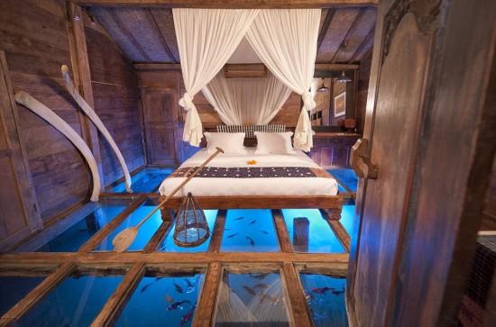 虾池上建客房 加夫妇水塘上建卧室打造创意旅馆