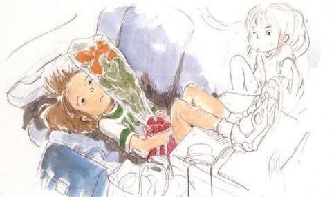 组图:宫崎骏铅笔淡彩动画原画欣赏
