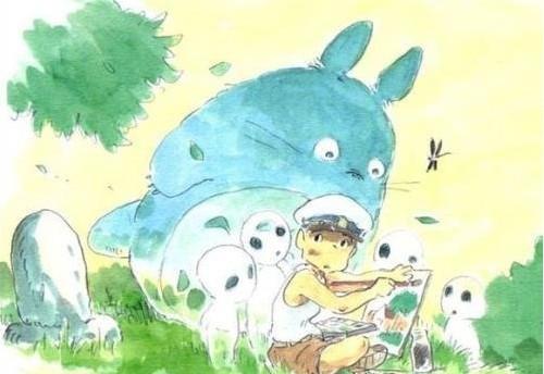 组图:宫崎骏铅笔淡彩动画原画欣赏图片