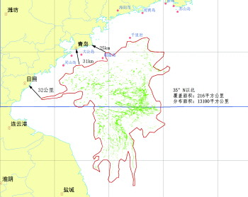 6月2日绿藻综合分布图。