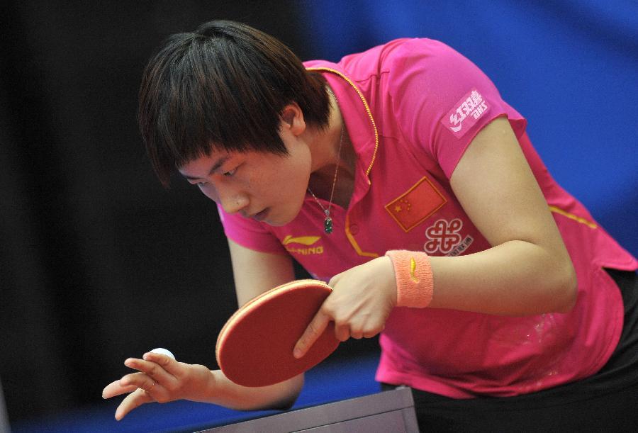 (体育)(3)乒乓球长寿公开赛:晋级丁宁(图)中国牌门球棒2017-1图片